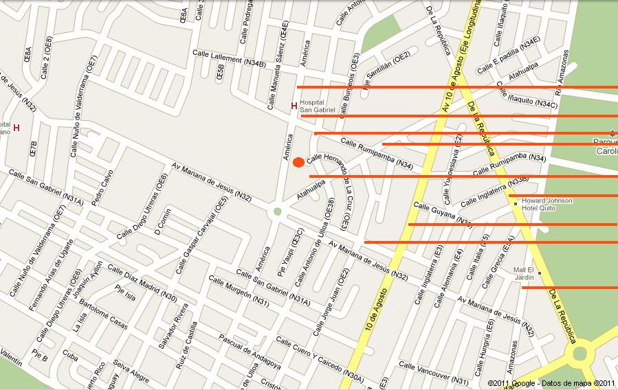av republica mapa Mapa Ubicación Quito   CodeSolar Cia Ltda Ecuador Sudamerica av republica mapa